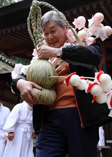相楽神社 餅花祭3
