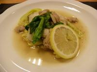 キャベツと鱈のはまぐりソース