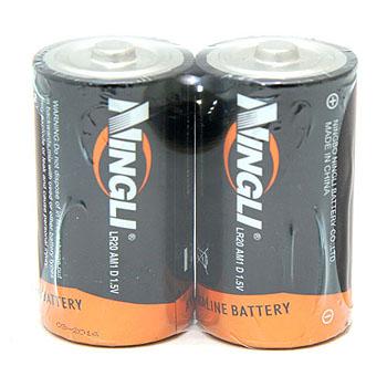 ノーブランド NINGLI アルカリ単1乾電池(2本パック)
