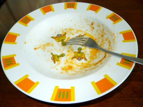 トニオさんのパスタ皿(完食後)