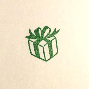 プレゼント印影
