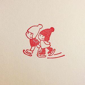 スケート印影