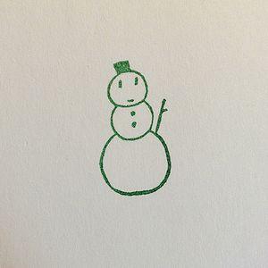 雪だるま印影