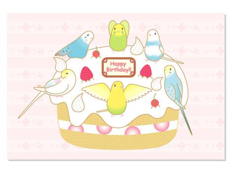 バースデーケーキ/セキセイB