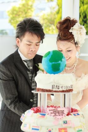 地球儀ケーキ!目指せ100ヶ国!!