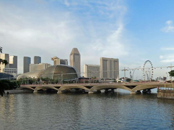 シンガポール川からオペラハウスを