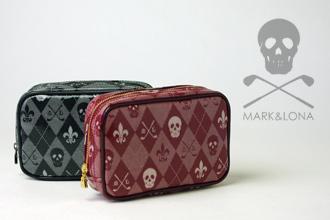 MARK&LONAダイヤモンドジャカードポーチ
