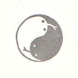 2013巳年年賀状・陰陽ヘビ