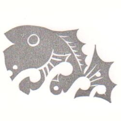 2013巳年年賀状・跳ね鯛