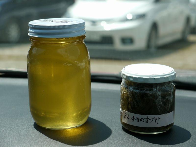 アカシアとトチの蜂蜜 & ふきのとうの酢漬け
