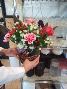 祝賀会のお花