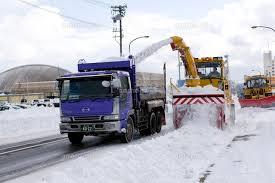 除雪作業風景