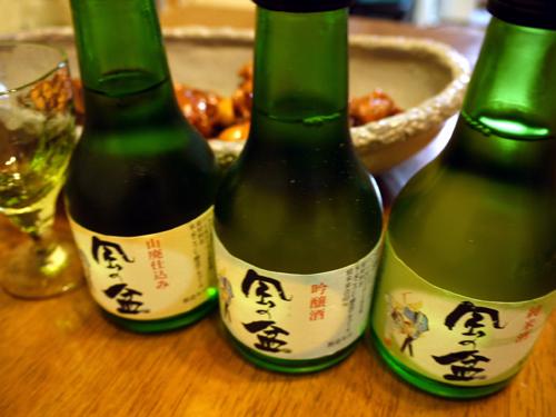 富山日本酒飲み比べ
