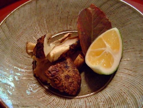 美山荘昼松茸ブログ