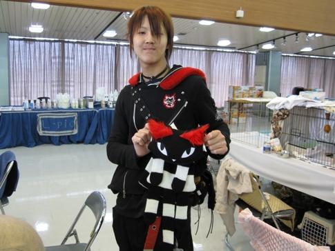6.梶谷くん猫ファッション