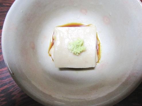 20.5)ごま豆腐 上から