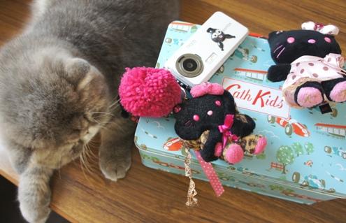 20)ケータイのキティちゃんは ぷくにかじられてます