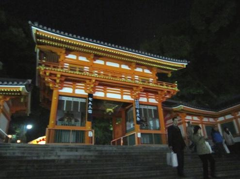 1)夜の八坂神社