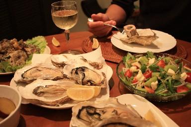 2013結婚記念昆布森牡蠣の食卓2