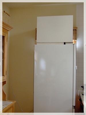 冷蔵庫を前に出して