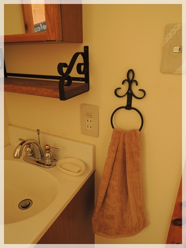 2階洗面台のタオル