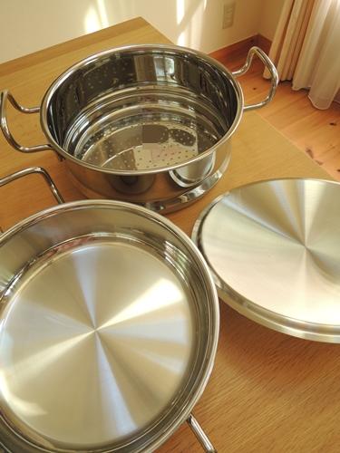 蒸し器付鍋