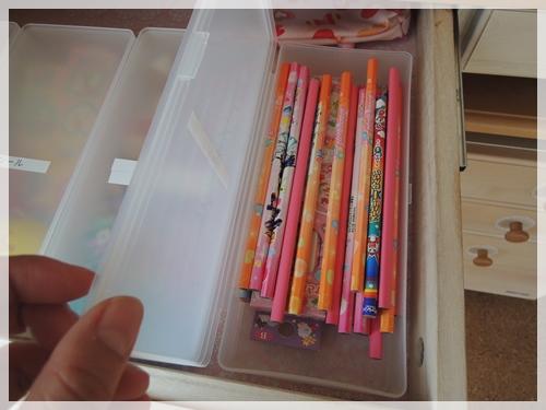 女の子用の鉛筆