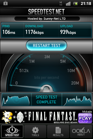 speedtest.net - Softbank