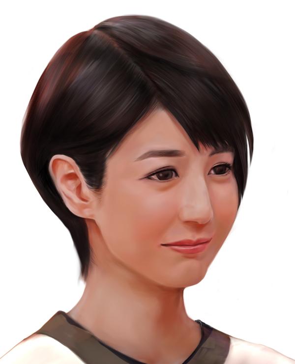 夏目三久さん似顔絵ズーム141220