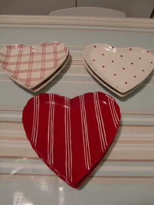 assiettes de coeur