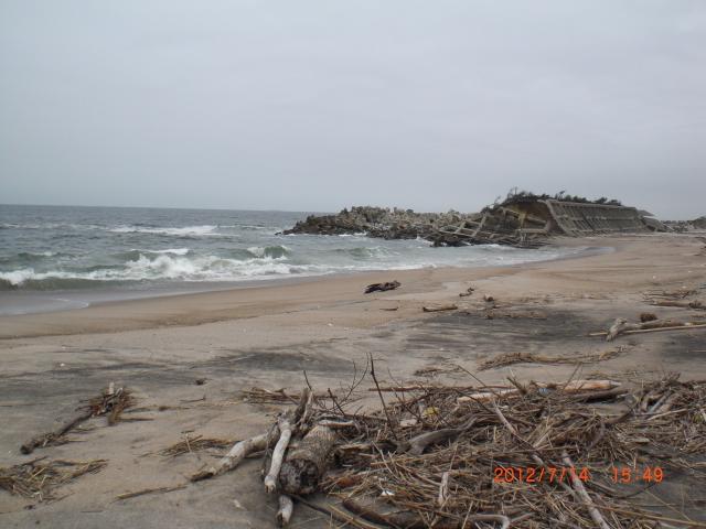 津波後の海岸