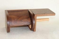木製トイレペーパーホルダー