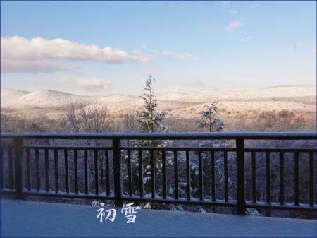 初雪(11月13日深夜)