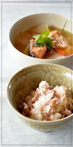 ウズラ豆ご飯&のっぺい汁