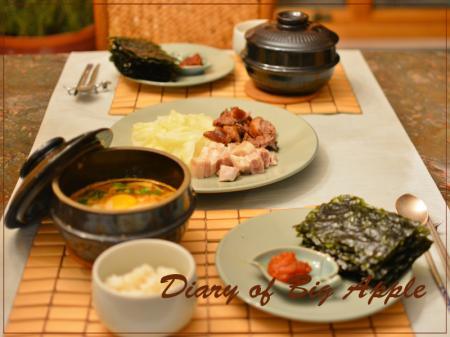 韓国料理で夕飯