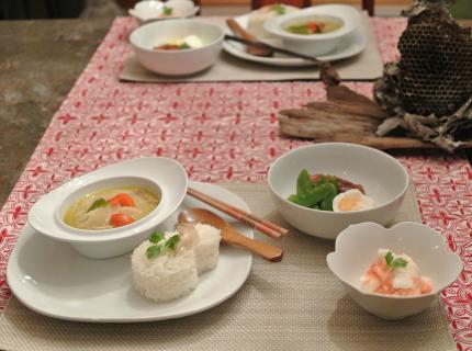 タイカレーで夕飯