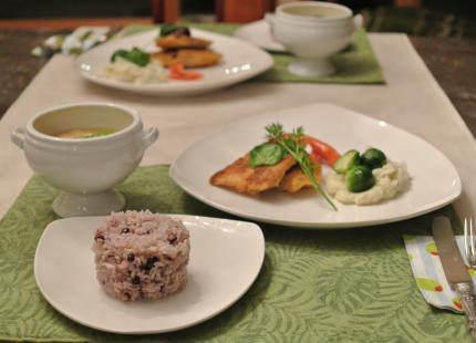 鮃のオーブン焼きで夕飯