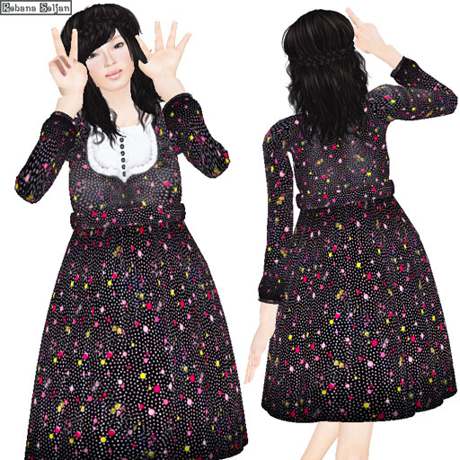 Retro dot dress (Group gift)