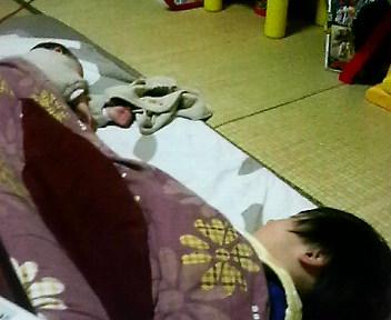 2人仲良くおやすみ