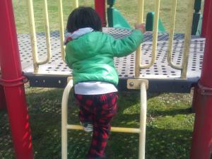 公園で遊ぶ蓮