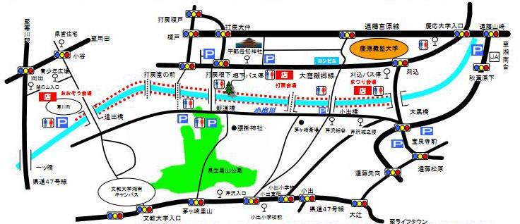 001小出川彼岸花地図