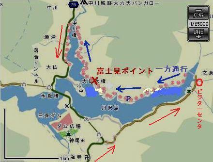 丹沢湖10地図