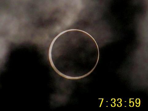 金環日食 7.33.59