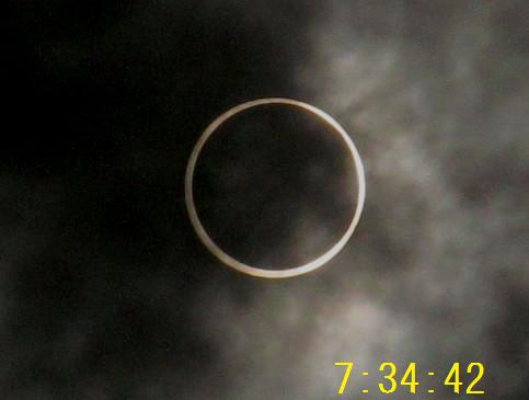 金環日食 7.34.42