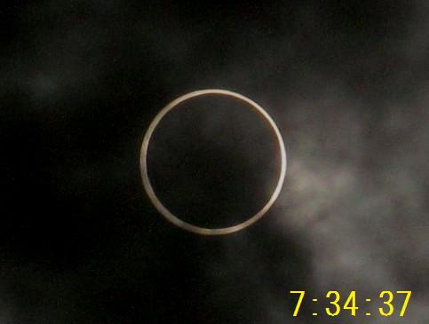金環日食 7.34.37