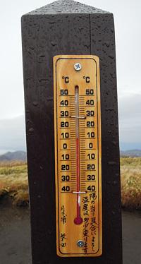 2011・11・3三俣山温度計