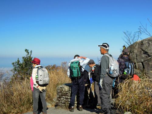 2011・11・26宝満山山頂