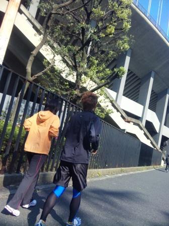 朝ラン(国立競技場)
