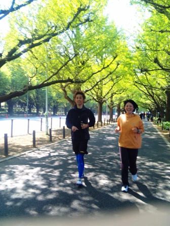 朝ラン(銀杏並木3)