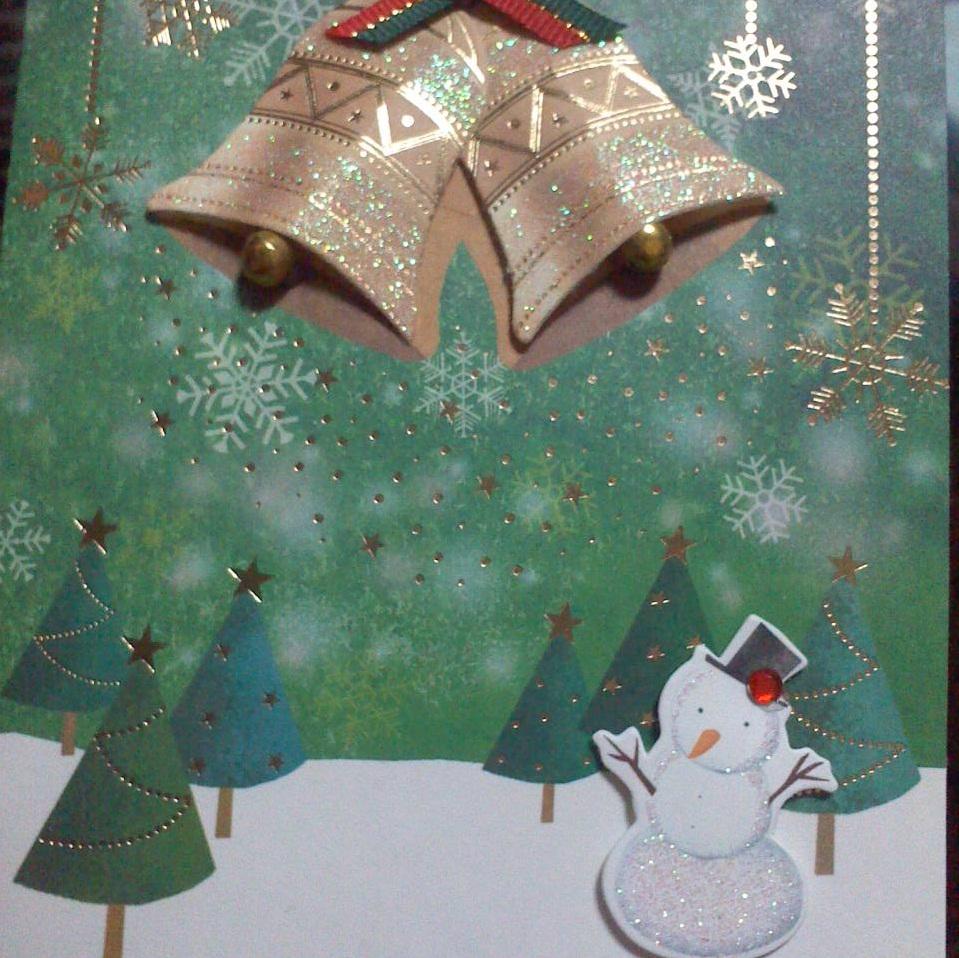 クリスマスカード縦